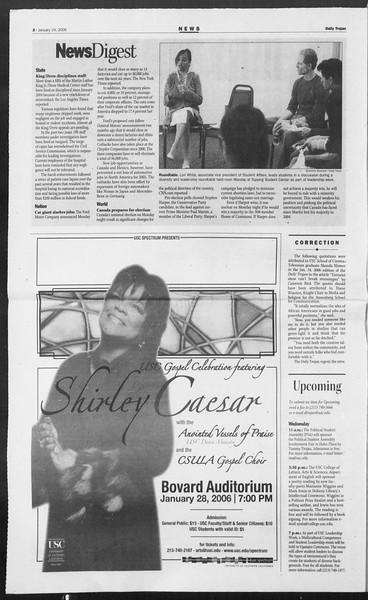 Daily Trojan, Vol. 157, No. 9, January 24, 2006