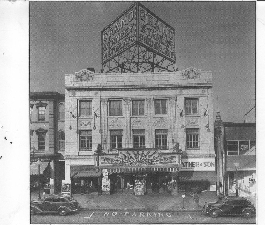 . This undated Times Herald file photo shows the Grand Theatre, once located between Swede and DeKalb streets on Main Street in Norristown. It was knocked down May 18, 1976 and is now a public parking lot.