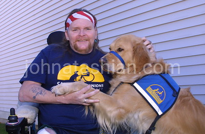 VNA - Visting Nurse Association - Client & his Dog - October 28, 2001