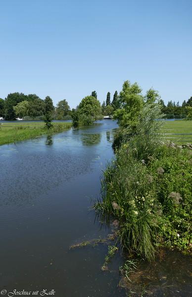 De Zande, water komt langzaam op 18-7-21