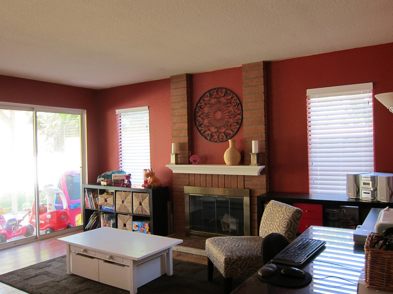 Family room with sliding doors to the back patio...