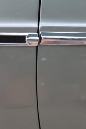 Paint chipped on Biquette's door