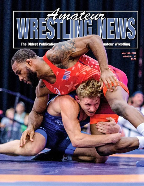 Amateur Wrestling News Cover, May, 2017