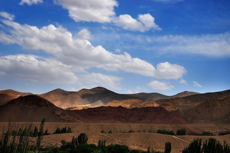 Big Cloudy Sky Above Karkas Mountains, Iran.