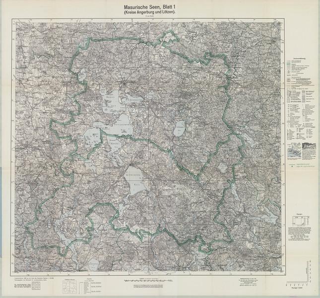 Mapa Masurische_Seen_Blatt_1_(Kreise_Angerburg_und_Loetzen 1940 .jpg