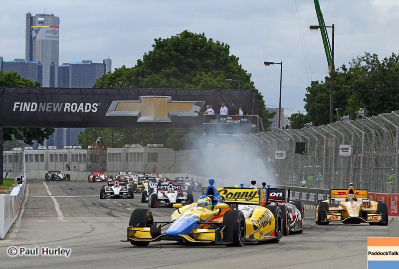 June 2: Green flag during the Chevrolet Detroit Belle Isle Grand Prix.