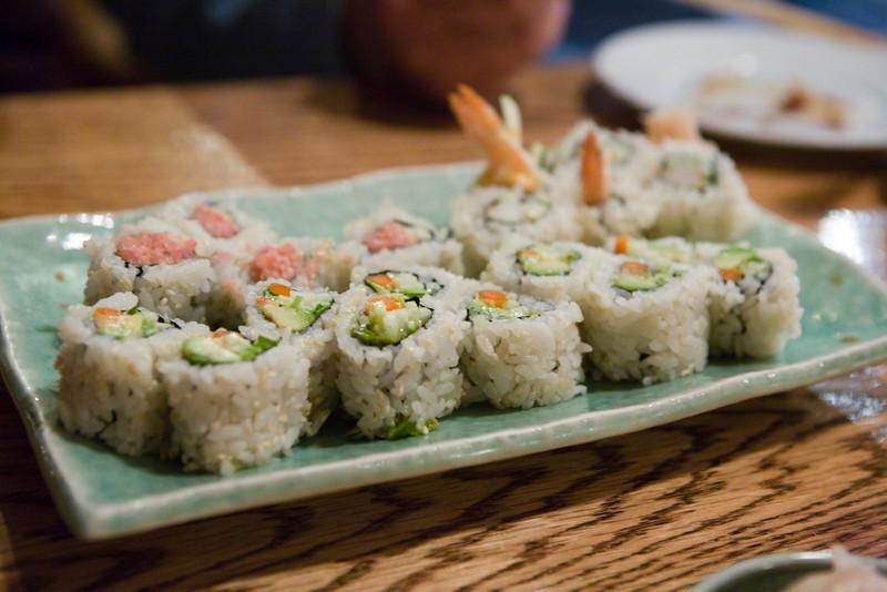 Spicy Tuna Roll, Avacado Roll, Shrimp Tempura Roll