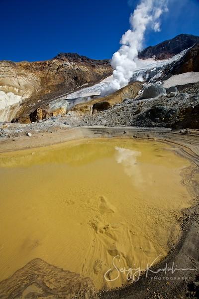 Lake near Mutnovsky volcano, Kamchatka