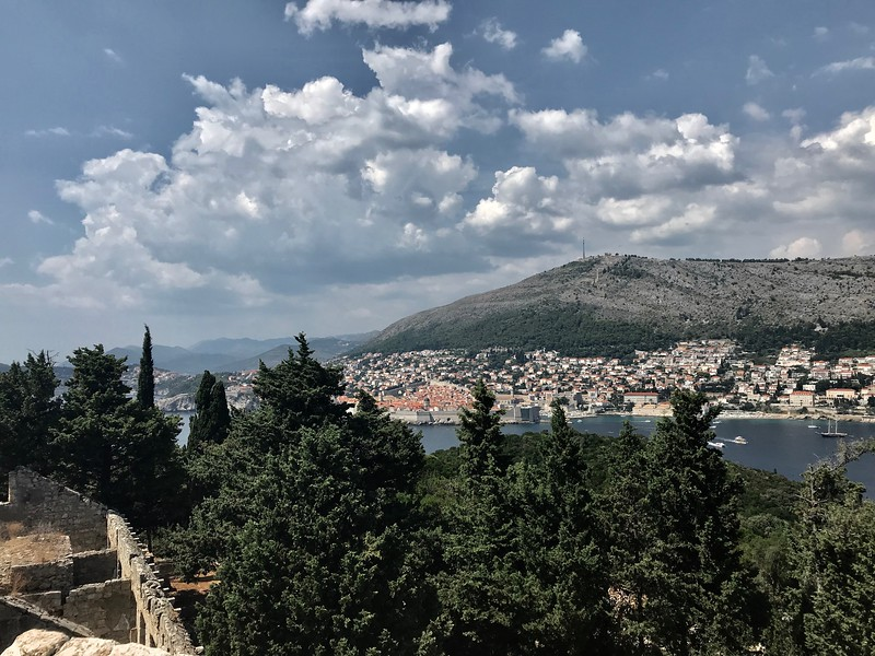 Lokrum Island's view of Dubrovnik