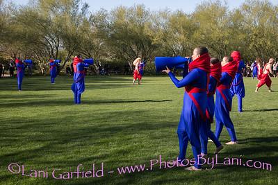 Desert X Lita Albuquerque hEARTH performance at Sunnylands Gardens