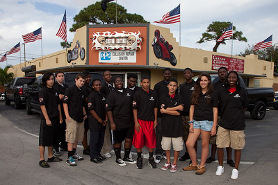 October 27th, 2011 Boys and Girls Clubs of Broward County visit Custom Coating's Motorcycle