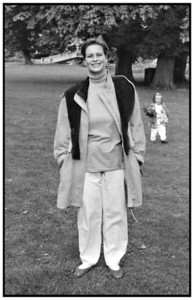 Bryndis med frakken 1992