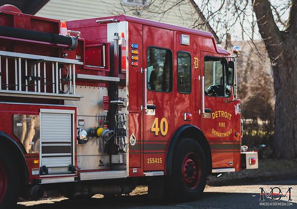 Detroit MI, House Fire 2-19-2020