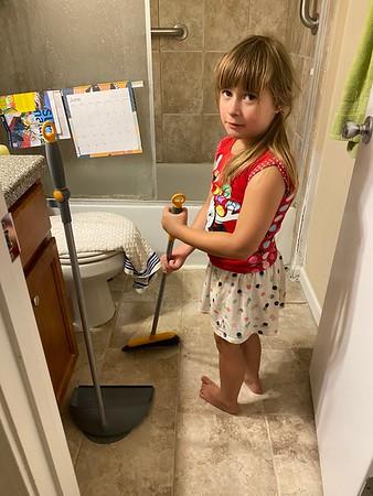 Grandgirls! Jon! Clean up! 6.4.21