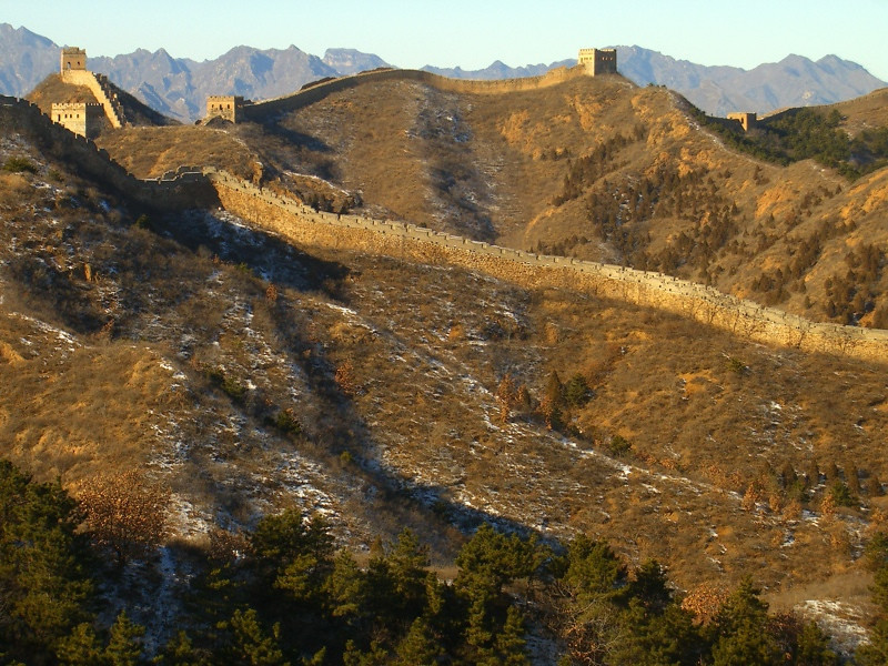 The Great Wall in Late Autumn - Beijing, China