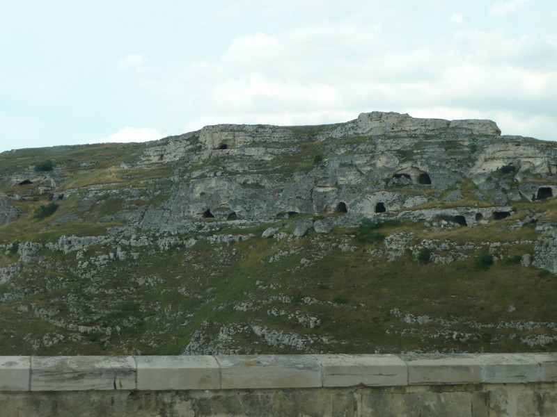 Prehistoric caves - across from Hotel Sant Angelo in Matera