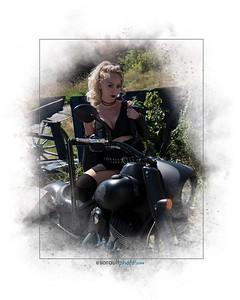 Chantal Indian motorcycle shoot