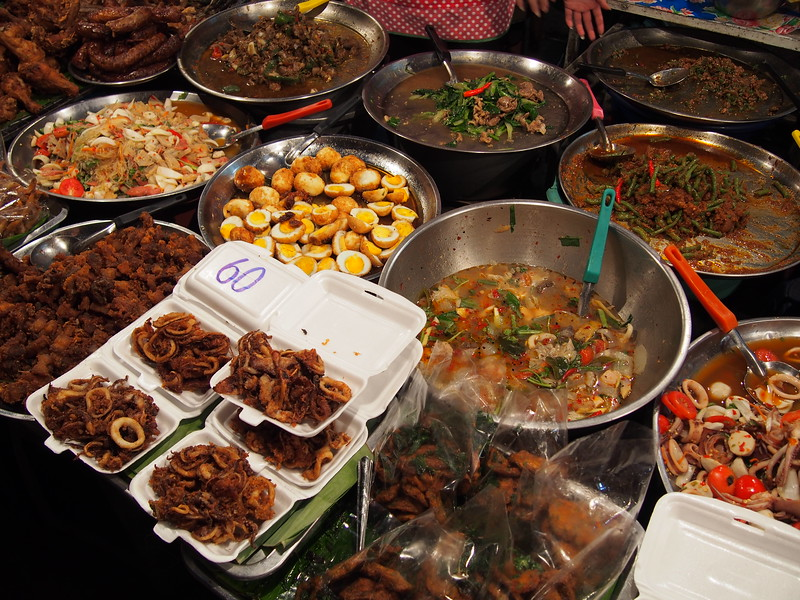 Street food in Chiang Mai, Thailand.