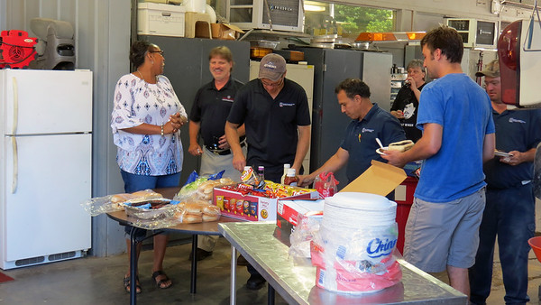 June 22, 2018:  Automotive Center cookout .  .  .