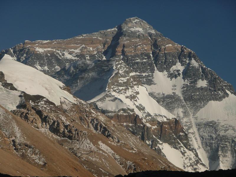 Mt Everest 8.850m = 29,035ft It was pretty dry season.