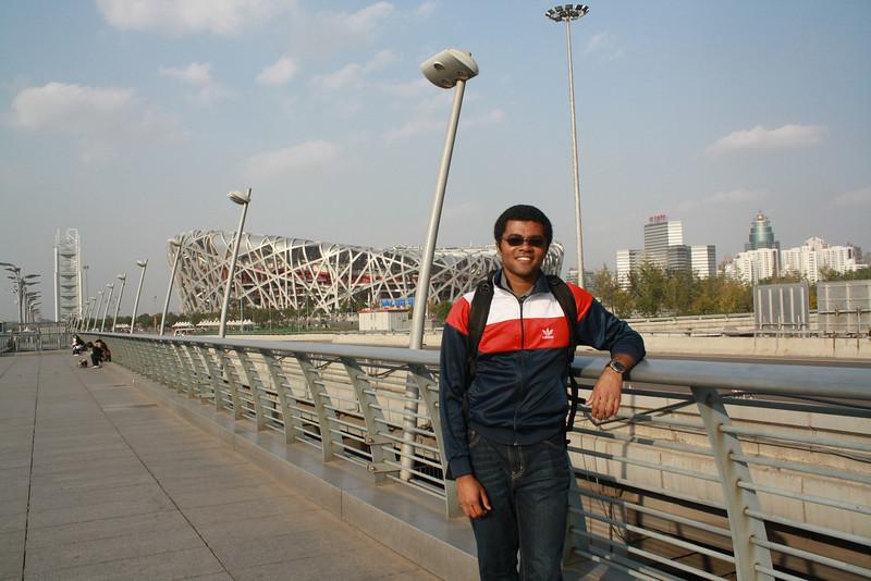 me and the bird's nest in Beijing.