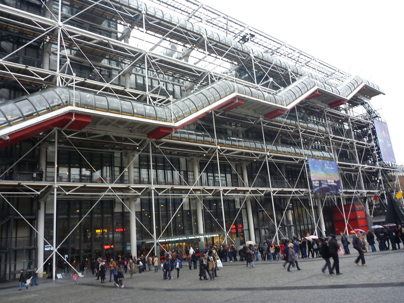 We walked another 8 miles this day with Alex *Le Pompidou Art Center