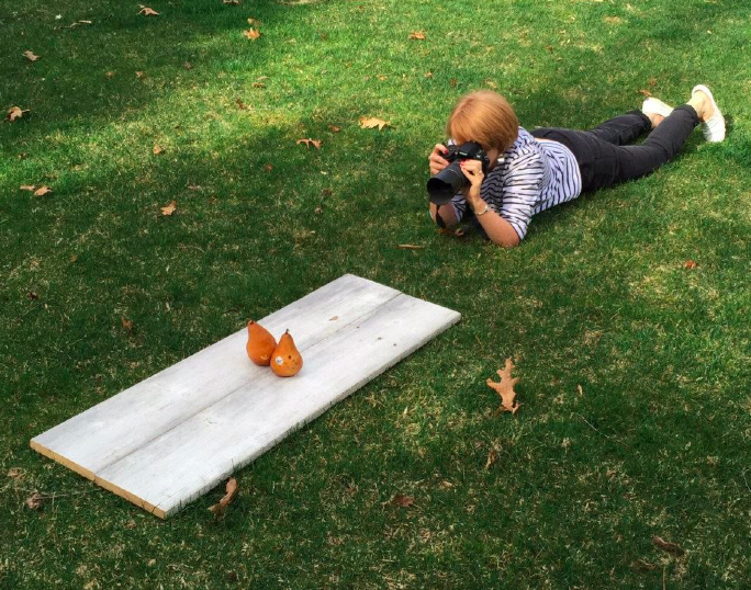 photographing pears