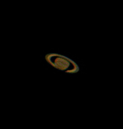 2005 FEB: Cassini-Teilung auf CCD. 100 Fotos der Nikon addiert