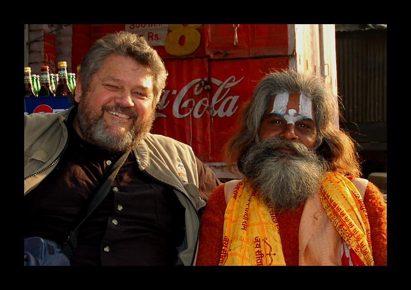 Jim and Friend, Varanasi - 2006.jpg