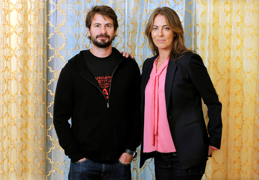 Description of . This Dec. 10, 2012 file photo shows screenwriter Mark Boal, left, and director Kathryn Bigelow during a photo call for their film