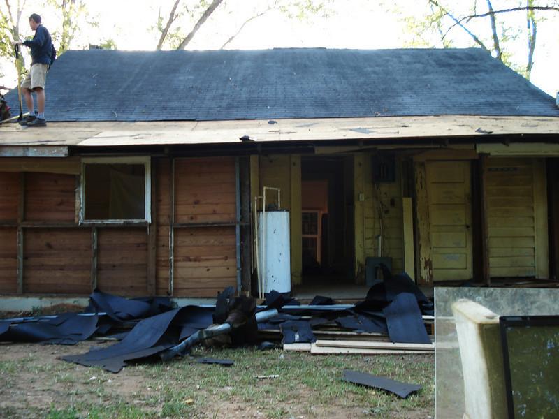 Old roofing felt removed. ck