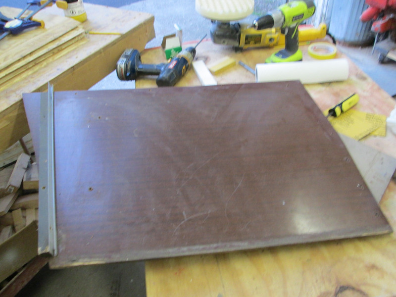 Panels used at the back of the front seat to hide the fuel tank. Panels were wet sanded to remove scratches.