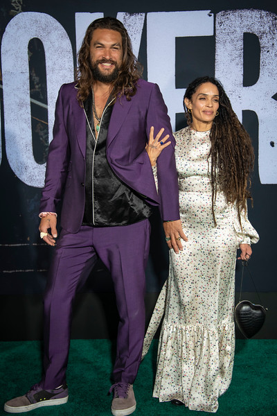 "HOLLYWOOD, CALIFORNIA - SEPTEMBER 28: Jason Momoa and Lisa Bonet attend the premiere of Warner Bros Pictures ""Joker"" on Saturday, September 28, 2019 in Hollywood, California. (Photo by Tom Sorensen/Moovieboy Pictures)"