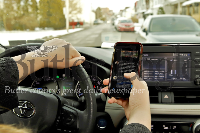 Texting and driving law change. Seb Foltz/Butler Eagle