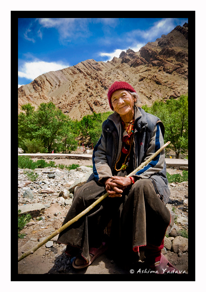 """Smile for a dollar"" <br /> <br /> Outside Hemis Monastery, Ladakh."
