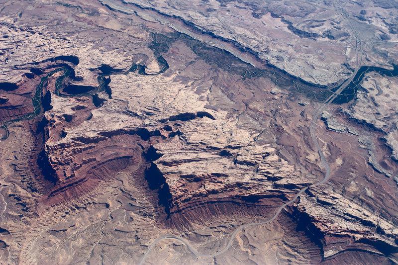 Utah geology from 37,000 ft