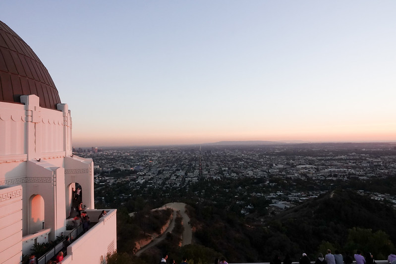 Griffith Observatory at sunset