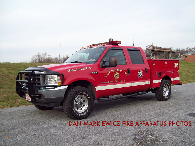 WEST HANOVER TOWNSHIP FIRE CO. SPECIAL UNIT 36 2004 FORD/READING UTILITY