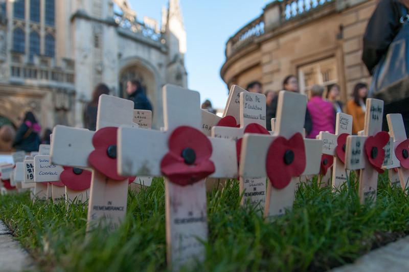 Memorial outside of the Bath Abbey - Bath, England