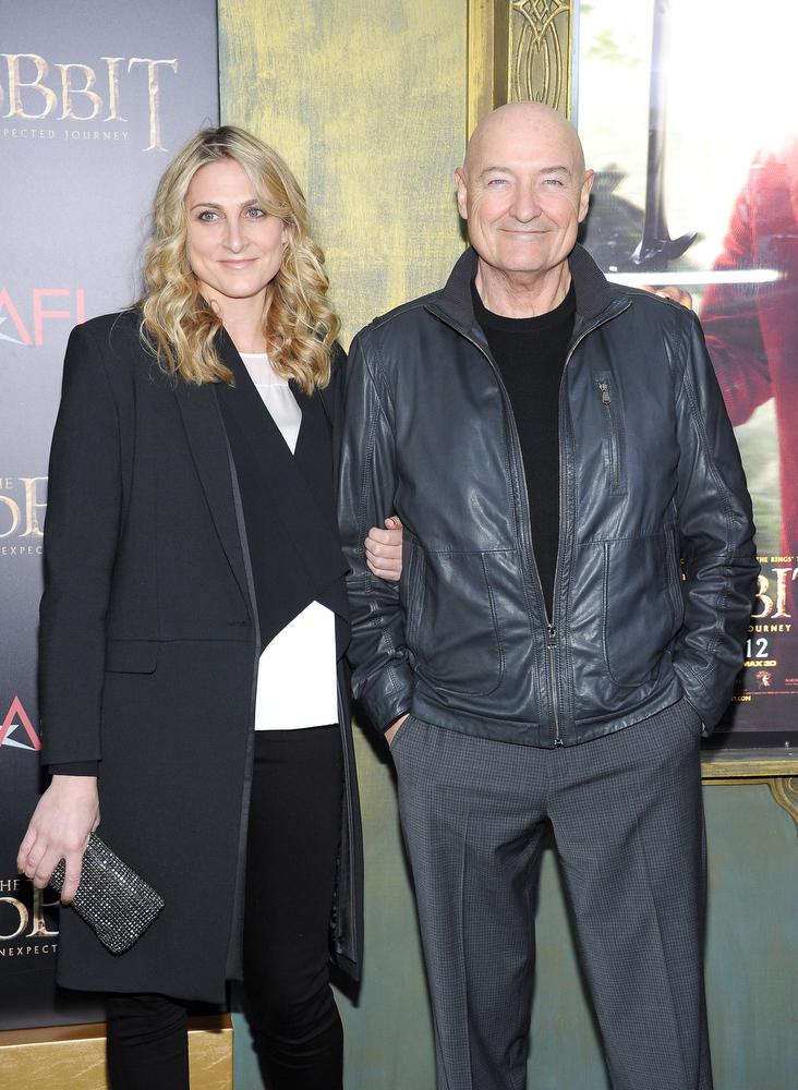 "Description of . Terry O\'Quinn (R) attends ""The Hobbit: An Unexpected Journey\"" New York premiere benefiting AFI at Ziegfeld Theater on December 6, 2012 in New York City.  (Photo by Michael Loccisano/Getty Images)"