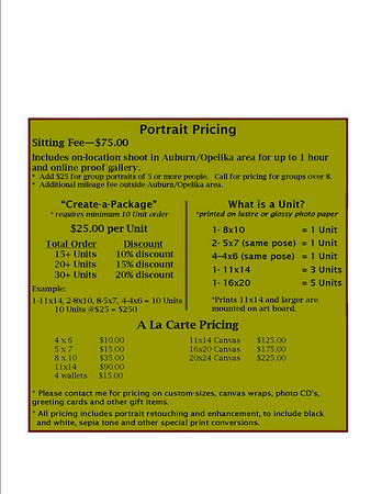 Portrait Pricing
