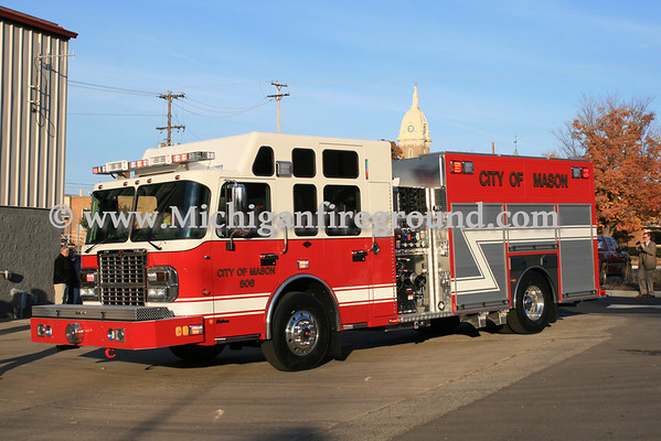 10/12/10 - Delivery of Mason Fire Department Rescue 806