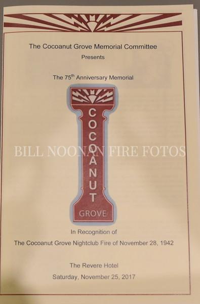 75th Anniv Ceremony of the Cocoanut Grove Fire