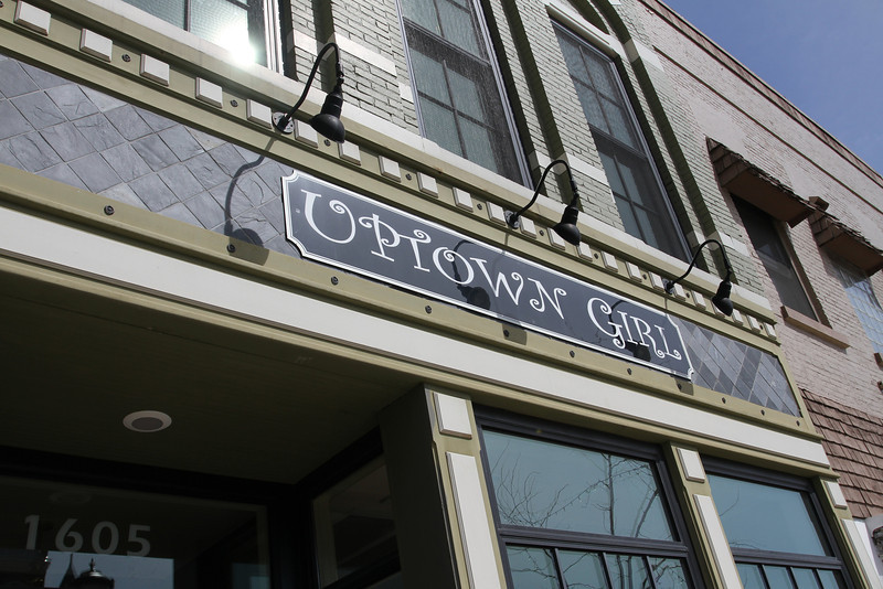 Uptown Girl is actually located downtown on the Courthouse Square.