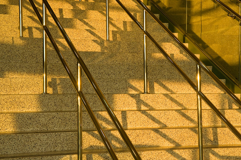 Staircase in sunset light at Kentucky Exposition Center