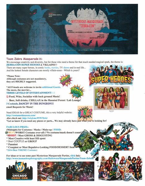 Team Zebra Masquerade IX *ZEBRACON* ZEBRACON Invitation Flyer