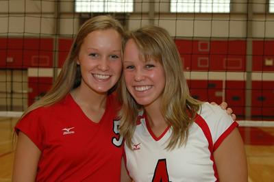Girls Varsity Volleyball - 2007-2008 - Senior JG