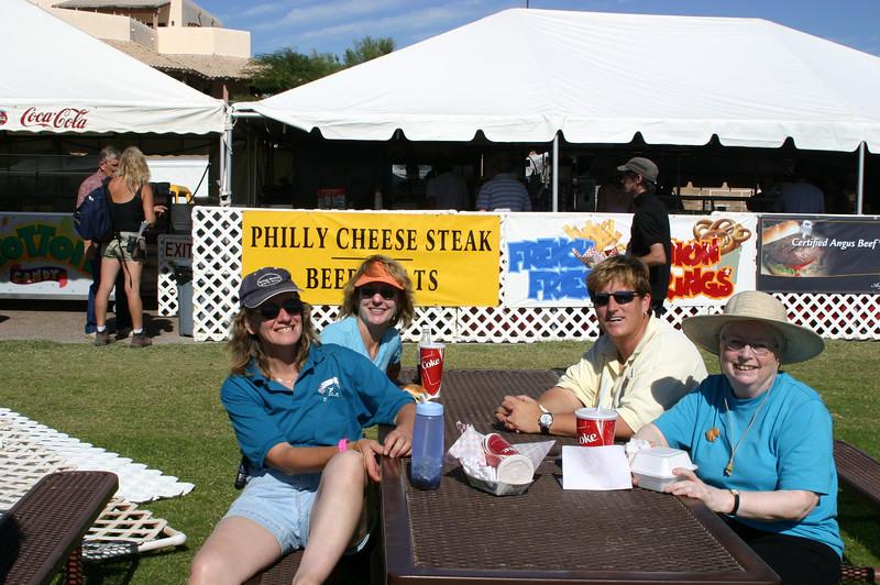 Ellen, Lisa, Holly, Nancy in the lunch zone.