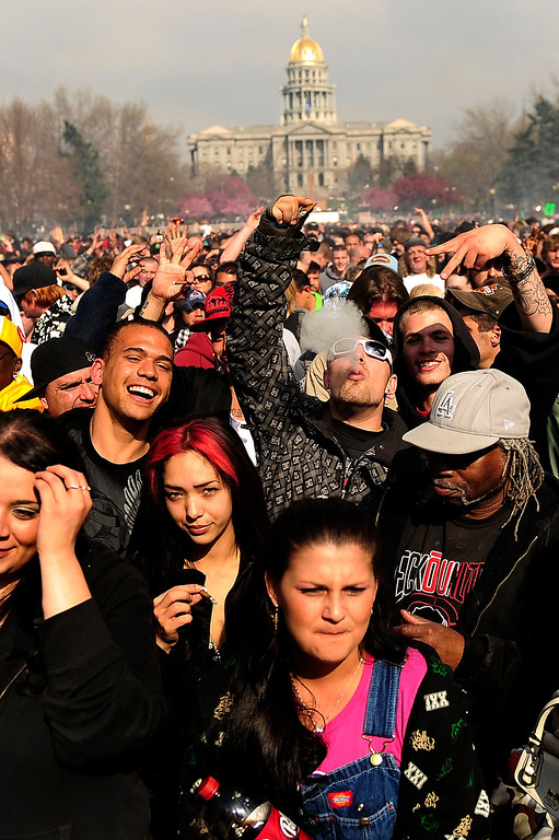 . Annual Denver 420 Rally in Civic Center Park.      Joe Amon, The Denver Post