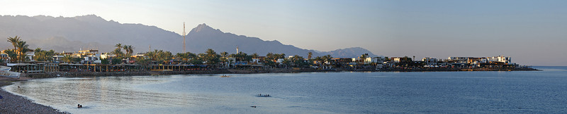 Finally there: the waterline of Dahab